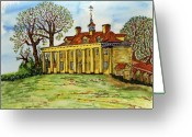 U.s.a. President Greeting Cards - Mount Vernon Virginia Greeting Card by Pat Walden