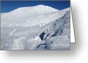 Appalachian Trail Greeting Cards - Mount Washington - White Mountain New Hampshire USA Winter Greeting Card by Erin Paul Donovan