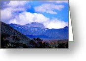 Weather Photographs Greeting Cards - Mount Washington Greeting Card by Skip Willits