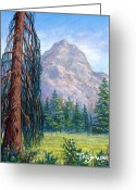 Outdoors Pastels Greeting Cards - Mount Zierkel Greeting Card by Tanja Ware