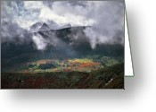 The West Greeting Cards - Mountain Autumn Greeting Card by Leland Howard
