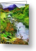 Foothill Greeting Cards - Mountain Brook Greeting Card by Anthony Caruso