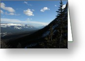 Rows Of Peaks Greeting Cards - Mountain Corridor Greeting Card by Greg Hammond