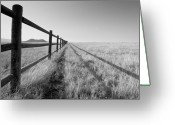 Rail Fence Greeting Cards - Mountain Framed In Split Rail Fence Greeting Card by Jon Paciaroni