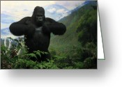 Primates Greeting Cards - Mountain Gorilla Greeting Card by RicardMN Photography