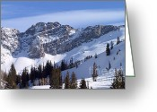 Winter Sports Photo Greeting Cards - Mountain High - Salt Lake UT Greeting Card by Christine Till