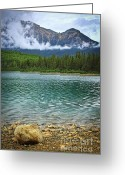 Alberta Landscape Greeting Cards - Mountain lake Greeting Card by Elena Elisseeva
