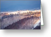 Colour Image Greeting Cards - Mountain landscape in Brasov county Greeting Card by Gabriela Insuratelu