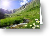 Photgraphy Greeting Cards - Mountain landscape  Greeting Card by Iurii Zaika
