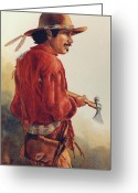 Bloomfield Greeting Cards - Mountain Man Greeting Card by Randy Follis