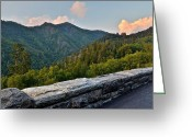 Mountain Summit Greeting Cards - Mountain Overlook Greeting Card by Robert Harmon