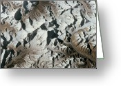 Spooky Moon Greeting Cards - Mountain Range On Earth Viewed From Space Greeting Card by Stockbyte