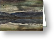 Kamloops Greeting Cards - Mountain Reflections Greeting Card by Kym Clarke