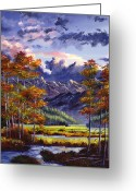 Recommended Greeting Cards - Mountain River Valley Greeting Card by David Lloyd Glover