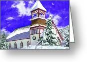 Barbara Painting Greeting Cards - Mountain Sanctuary 2 Greeting Card by Barbara Jewell