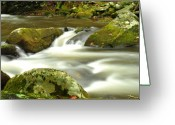 Mountains Photographs Greeting Cards - Mountain Stream 3 Greeting Card by William Jones