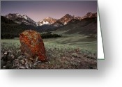 The West Greeting Cards - Mountain Textures and Light Greeting Card by Leland Howard