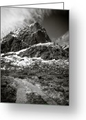 Barren Greeting Cards - Mountain Track Greeting Card by David Bowman