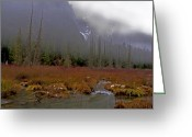 Minard Greeting Cards - Mountain Valley Greeting Card by Vern Minard