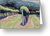 Opus One Greeting Cards - Mountain Vineyard Greeting Card by Christopher Mize