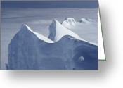 Image Type Photo Greeting Cards - Mountaineers Ascend Gremlins Cap Greeting Card by Gordon Wiltsie