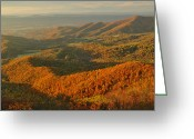 Shenandoah Greeting Cards - Mountainous Sunset Landscape Greeting Card by Raymond Gehman