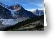 Edith Greeting Cards - Mountains and Glaciers Greeting Card by Larry Ricker