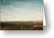 See Greeting Cards - Mountains As Far As The Eye Can See Greeting Card by Priska Wettstein