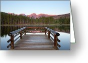 Clear Photo Greeting Cards - Mountains Behind Sprague Lake Greeting Card by Lightvision, LLC