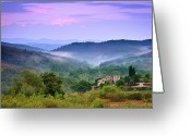 Rural Scene Greeting Cards - Mountains Greeting Card by Christian Wilt