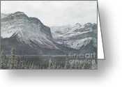 Snow Capped Greeting Cards - Mountains Majesty Greeting Card by Andrea Hazel Ihlefeld