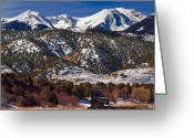 Fault Block Greeting Cards - mountains Majesty  Greeting Card by Paul Gana