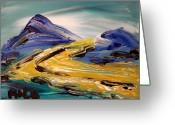 Leaned Greeting Cards Greeting Cards - Mountains Greeting Card by Mark Kazav