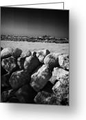 Granite Walls Greeting Cards - Mourne Granite Irish Dry Stone Wall Ireland Greeting Card by Joe Fox