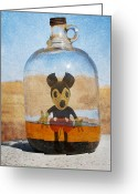 Converse Greeting Cards - Mouse In A Bottle  Greeting Card by Jerry Cordeiro