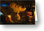 Spooky Moon Greeting Cards - Mouse In The Attic Greeting Card by Bob Orsillo