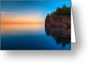 North Shore Greeting Cards - Mouth Of The Baptism River Minnesota Greeting Card by Steve Gadomski