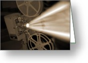 Theater Digital Art Greeting Cards - Movie Projector  Greeting Card by Mike McGlothlen