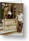 Moving Hotel Degink Greeting Cards - Moving Hotel DeGink Greeting Card by Padre Art