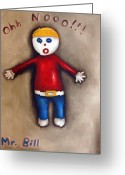 Scream Greeting Cards - Mr. Bill Greeting Card by Leah Saulnier The Painting Maniac