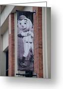 Ball Parks Greeting Cards - Mr Met Greeting Card by Rob Hans
