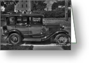 Model A Greeting Cards - Mr. Ness -- your car is ready Greeting Card by David Bearden