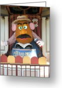 California Adventure Park Greeting Cards - Mr Potato Head Greeting Card by Alisha Carroll