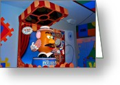 World Map Print Photo Greeting Cards - Mr. Potato Head Greeting Card by Malania Hammer