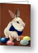 Decor Pastels Greeting Cards - Mr. Rabbit Greeting Card by Anastasiya Malakhova