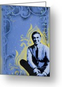 Spraypaint Greeting Cards - Mr. Rogers Greeting Card by Iosua Tai Taeoalii
