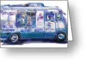 Children Ice Cream Greeting Cards - Mr. Softee Greeting Card by Russell Pierce