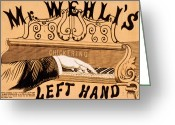 Musicals Greeting Cards - Mr. Wehlis Left Hand Greeting Card by Marcie Adams Eastmans Studio Photography