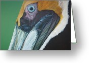 Jon Ferrentino Greeting Cards - Mr.Pelican Greeting Card by Jon Ferrentino