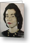 Civil Rights Greeting Cards - Mrs. Coretta Scott King Greeting Card by Chelle Brantley